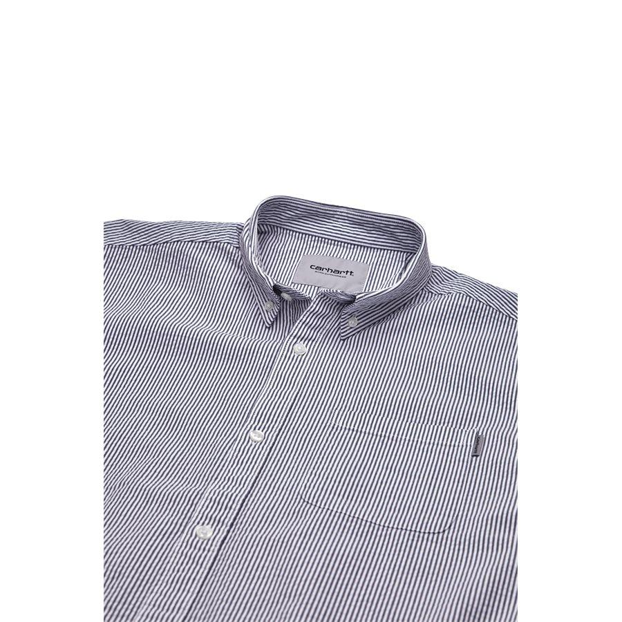S/S ALDER SHIRT I024136 - S/S Alder Shirt - Skjorter - Regular - STONE BLUE/WHI - 3
